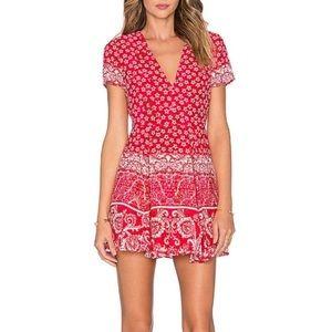 Lovers + Friends X Revolve Cassidy red mini dress